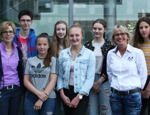 Französisches Diplom für sieben Schülerinnen und Schüler der Bischöflichen Realschule