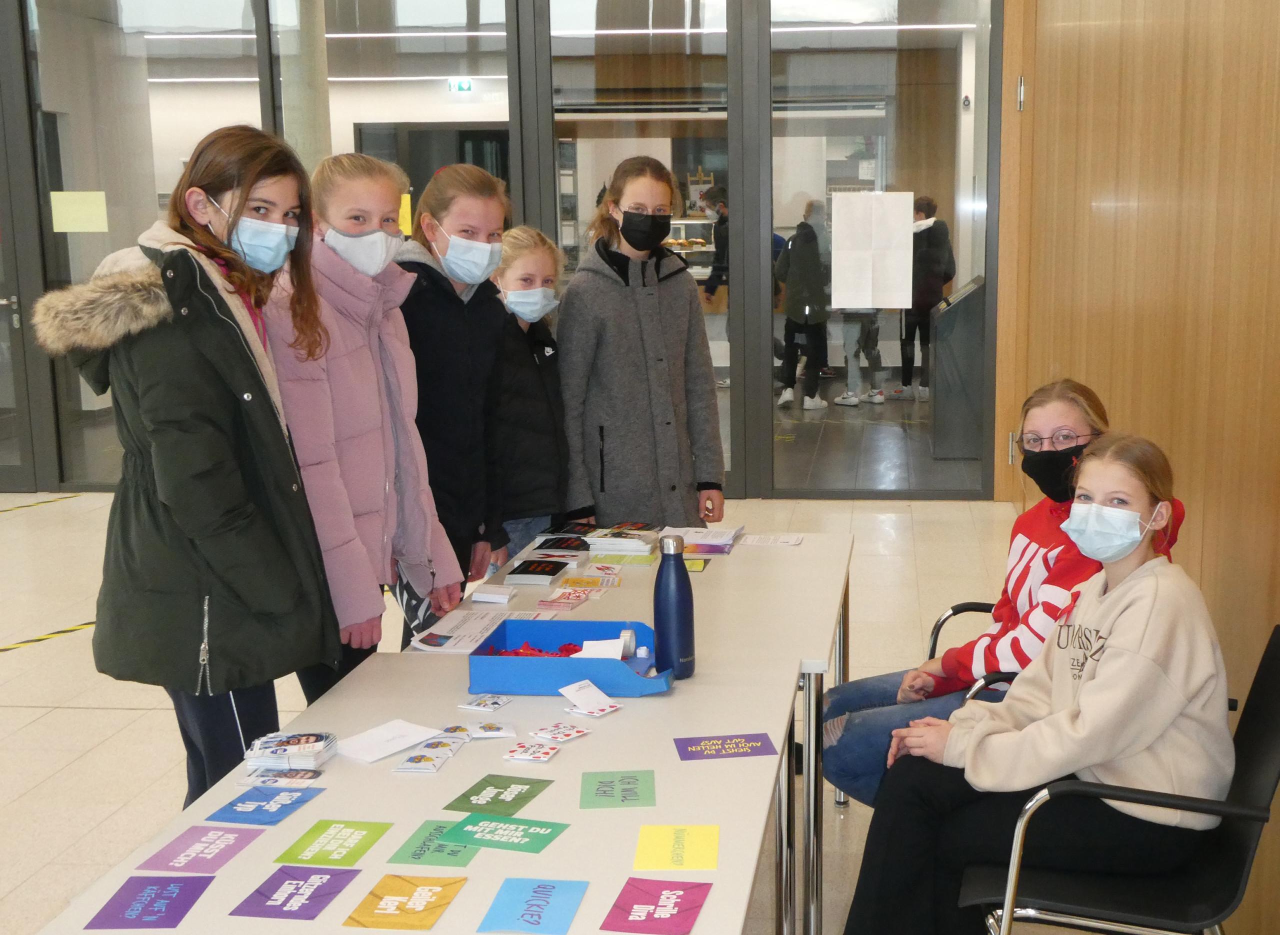 Aktion zum Welt-AIDS-Tag an der BRS